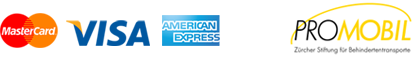 Zahlungsarten Maestro, Master Card, Visa, American Express und Promobile